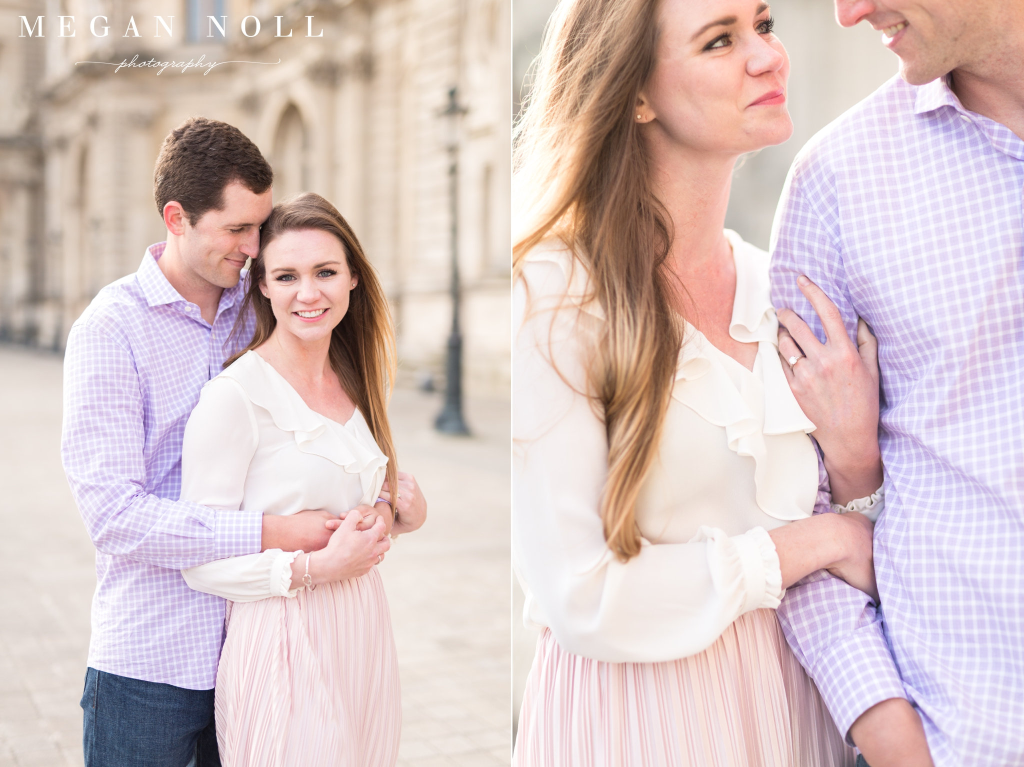 Sunrise engagement shoot in Paris, Megan Noll Photography