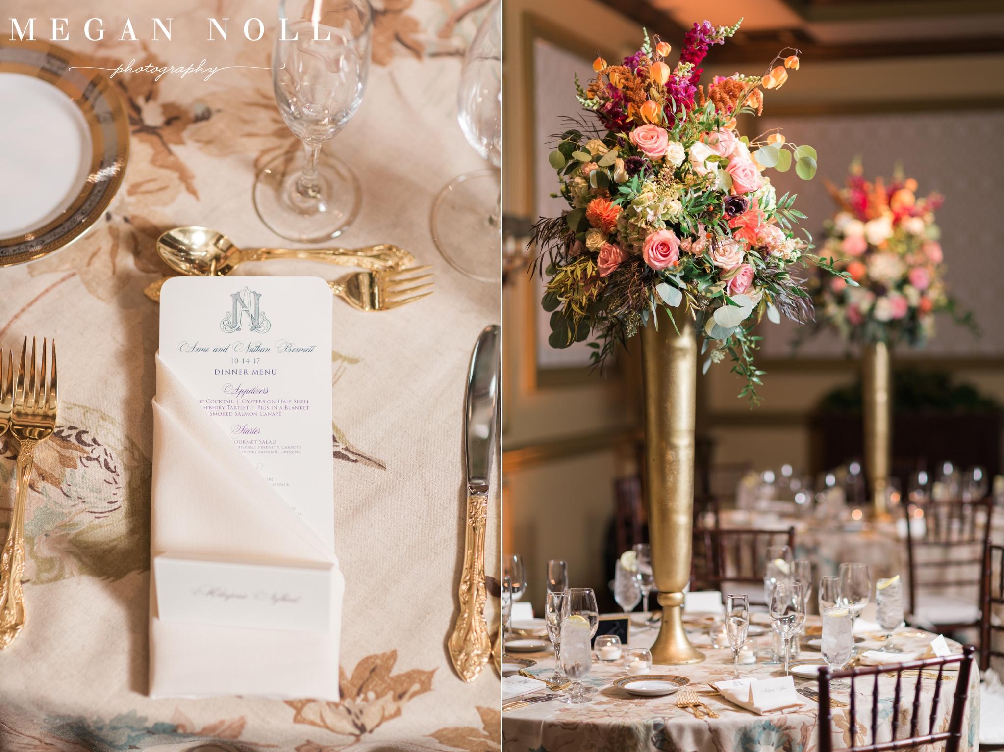 Kenwood Country Club, Centerpieces, Marti Heard, Fall Wedding