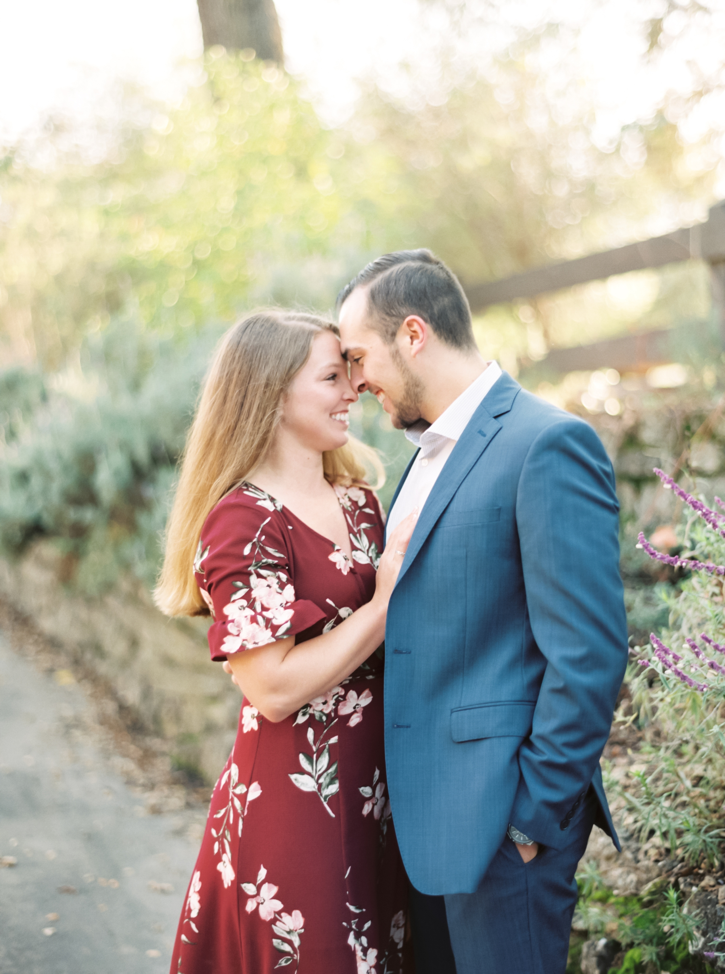 Hiking Engagement Pictures, Girl in Dress, Guy in suit
