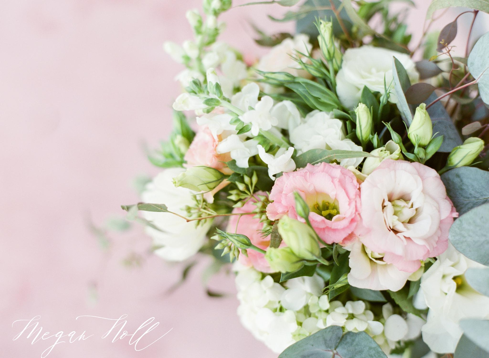 Wedding In Riviera Maya Flower Arrangement, Pink Bouquet