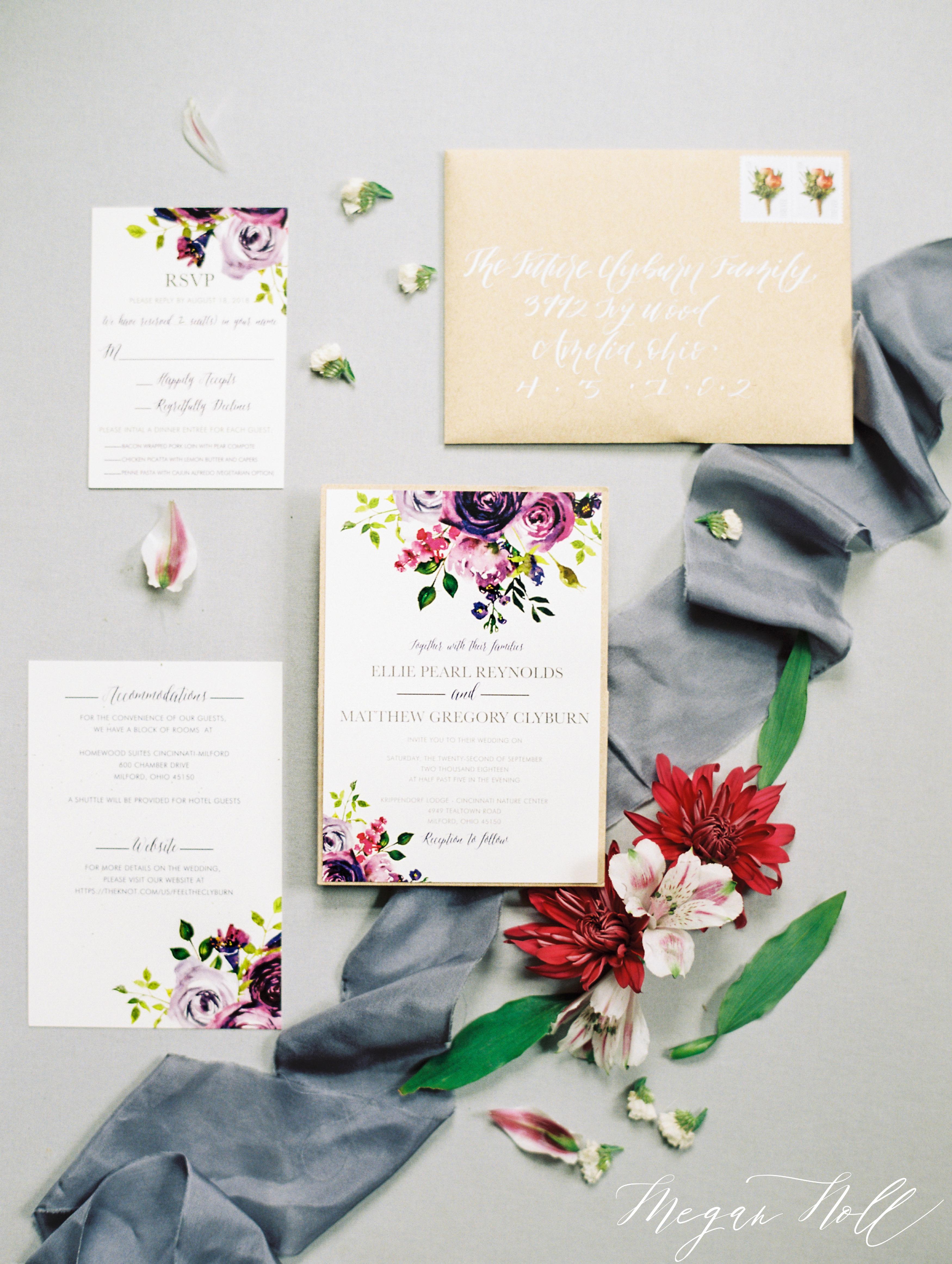 Dirty Helen Paper Company Wedding Invitations in Cincinnati