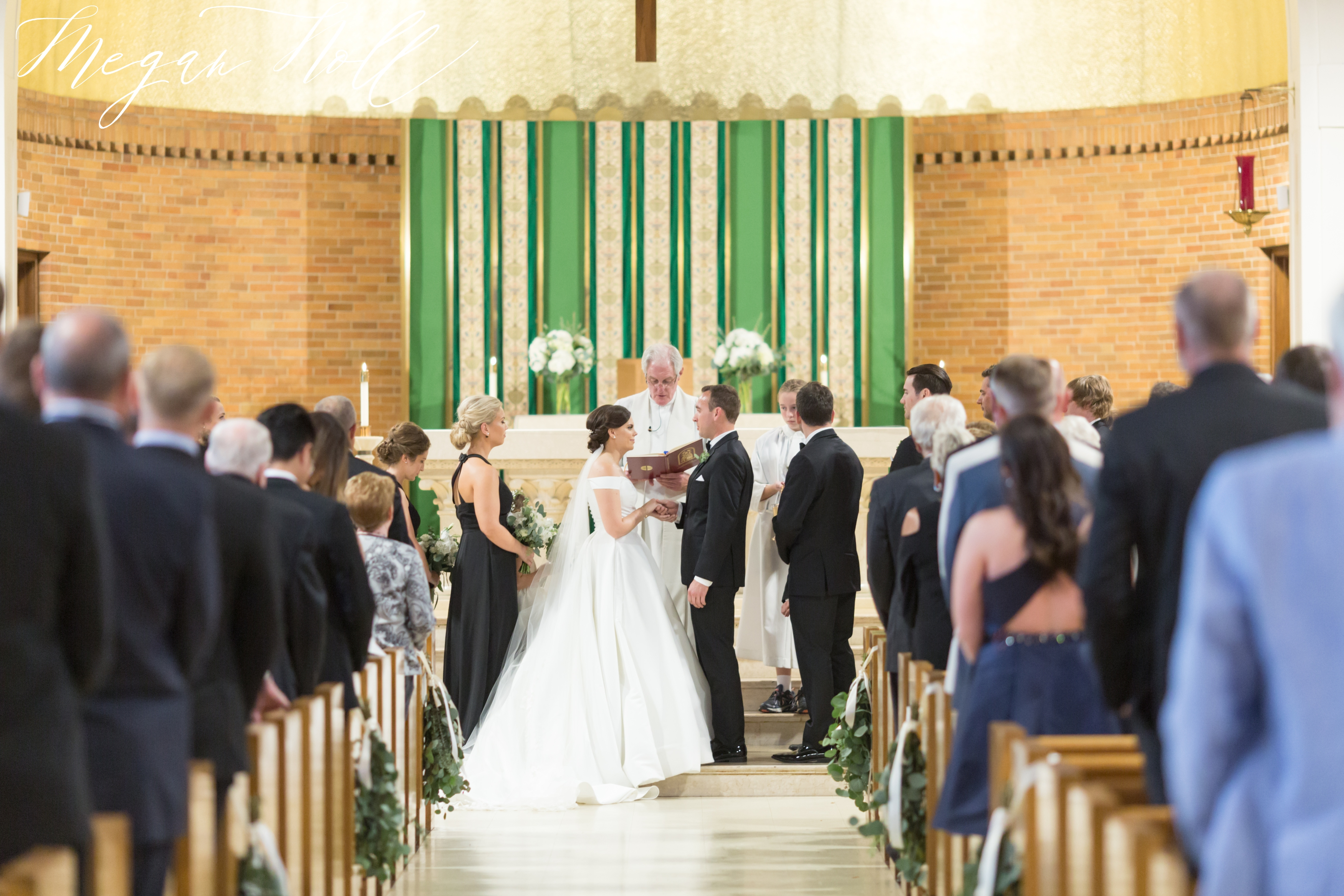 Wedding Ceremony in St. Agnes Church in Park Hills Kentucky