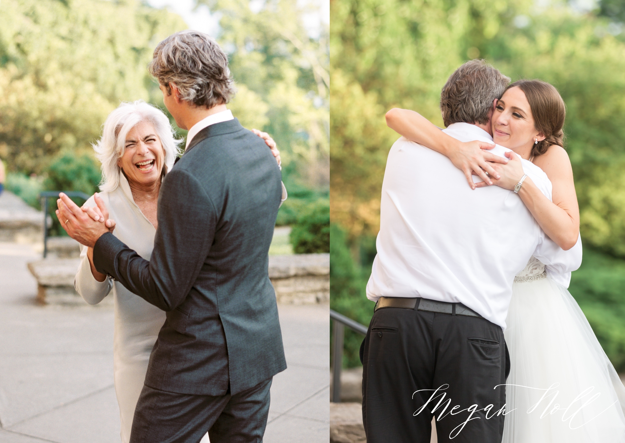 Parent dances outdoor ceremony at Alms Park Wedding