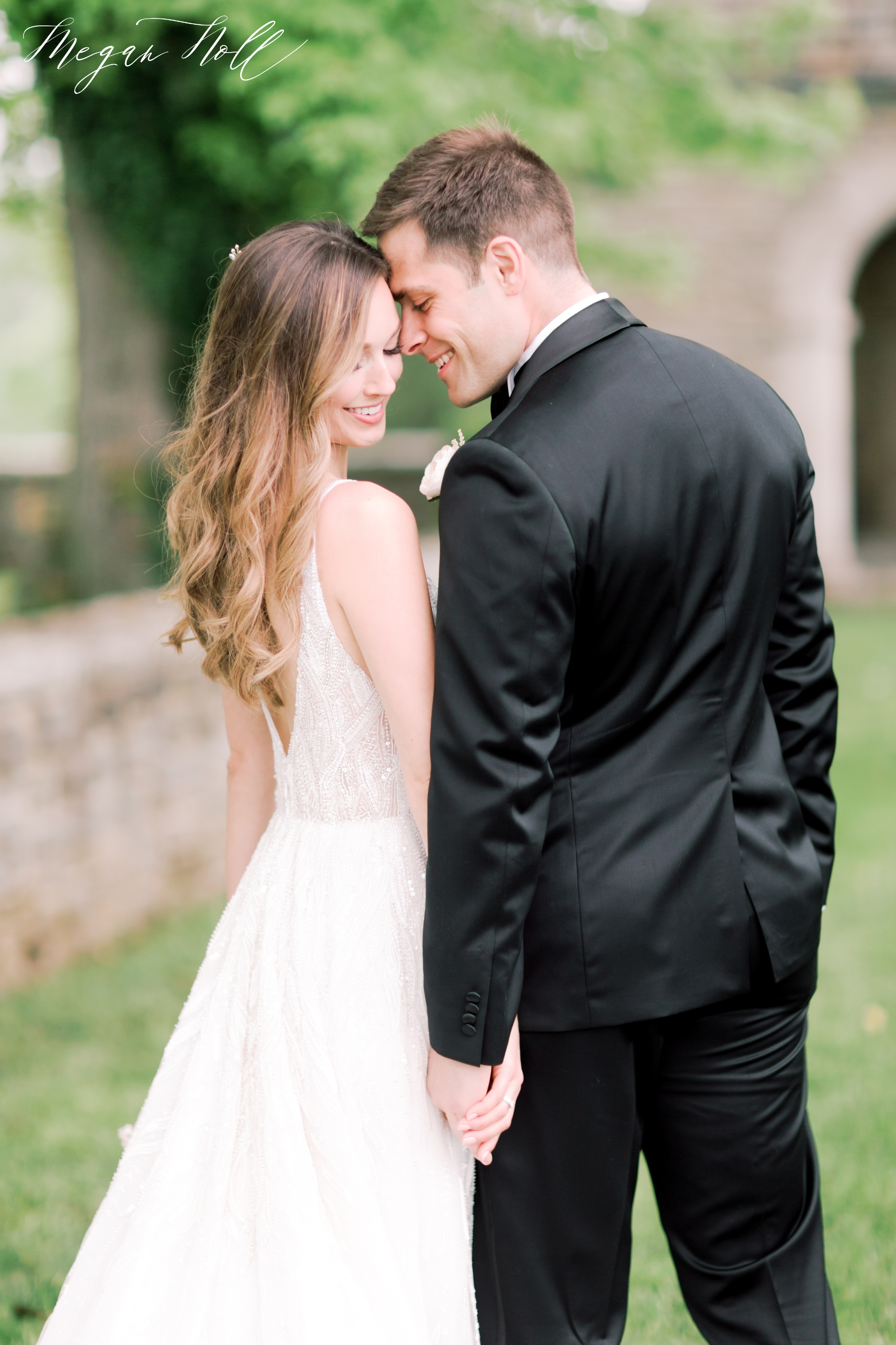 Romantic bride and groom portraits in Cincinnati
