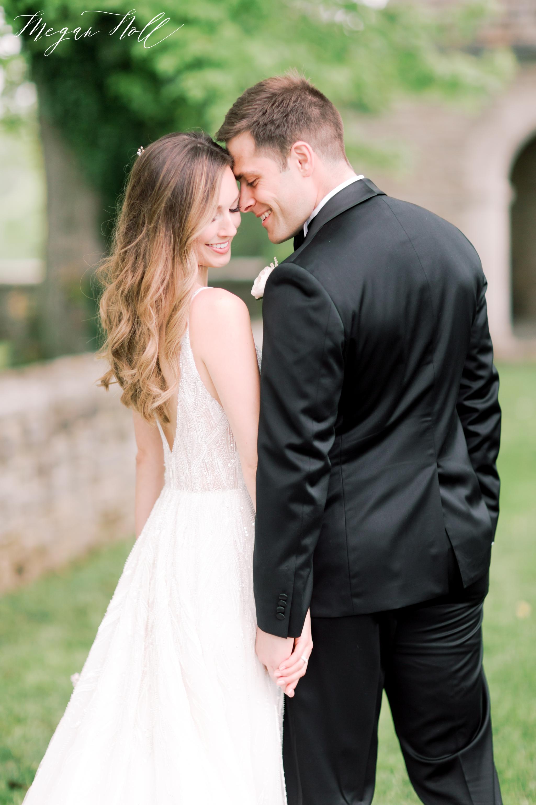 Romantic bride and groom portraits in Cincinnati