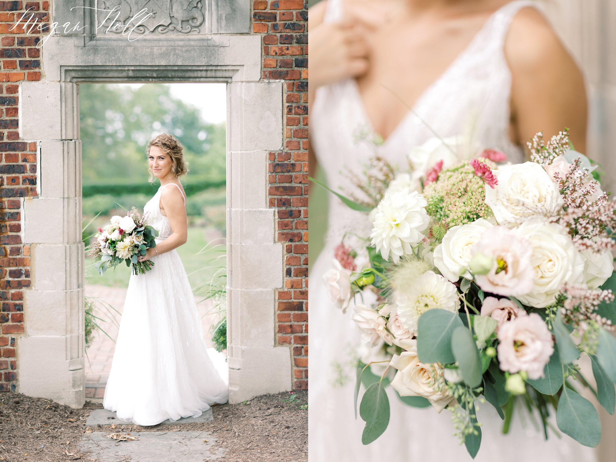 Neutral Bridal bouquet by Robin Wood Flowers