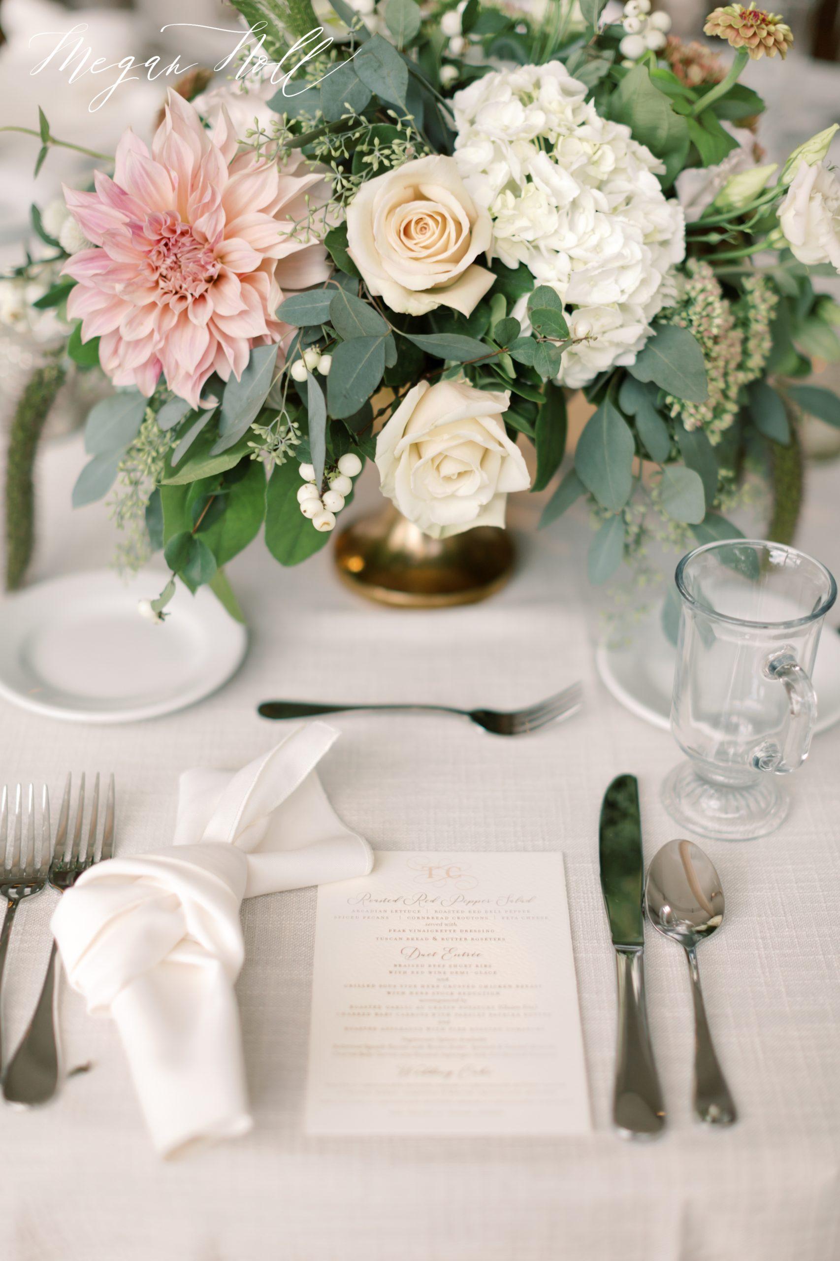 Table scape, place setting at Zasuwa Wedding