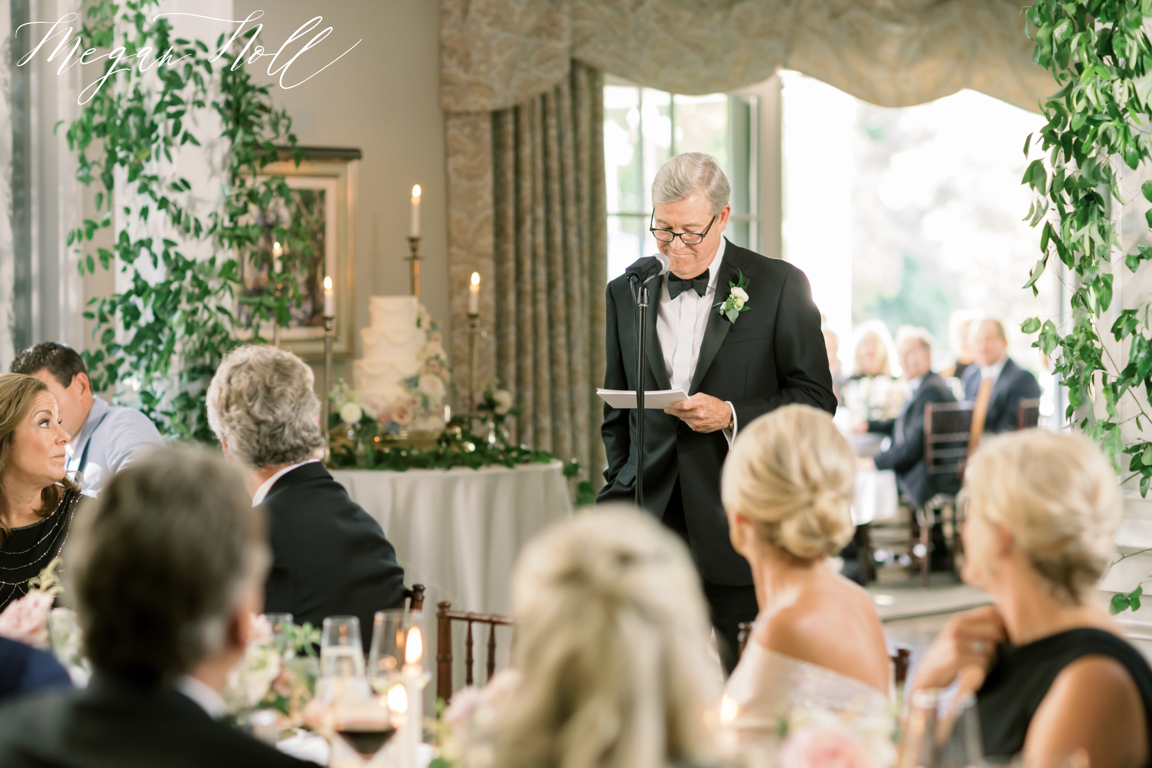 Father of the Bride giving toast in Kentucky Wedding